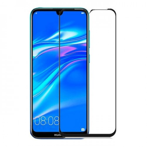 Full Face Tempered glass / Αντιχαρακτικό Γυαλί Πλήρους Οθόνης 3D Για Huawei Y7 2019 Μαύρο
