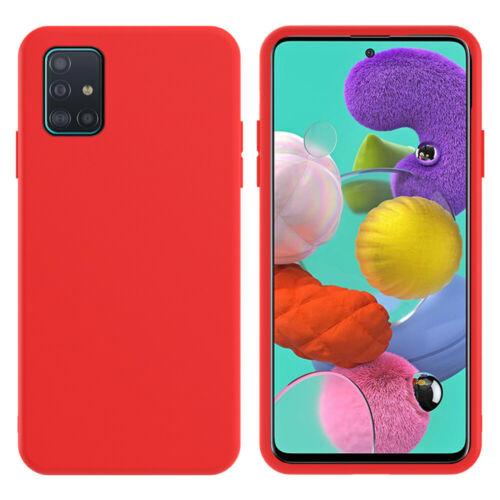 Oem Θήκη Σιλικόνης Matt Για Samsung Galaxy A12 Κόκκινο