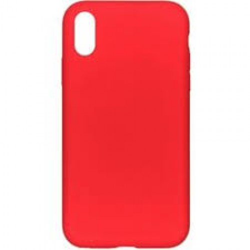 OEM SILICONE CASE MATT ΓΙΑ APPLE IPHONE XS MAX RED