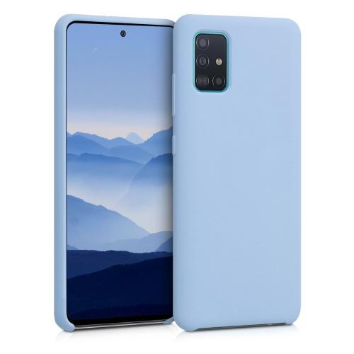 Oem Θήκη Σιλικόνης Matt Για Samsung Galaxy A12 Γαλάζιο