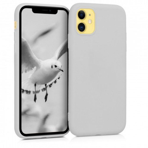 OEM SILICONE CASE MAT 1.5 MM BLISTER ΓΙΑ APPLE IPHONE 12/12 PRO 6,1'' WHITE GREY