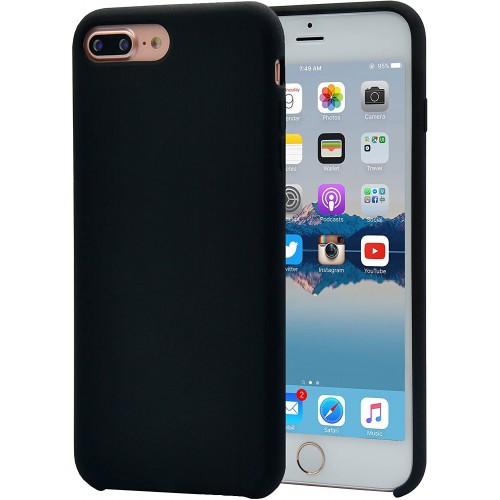 OEM SILICONE CASE MATT ΓΙΑ APPLE IPHONE 7/8 PLUS BLACK