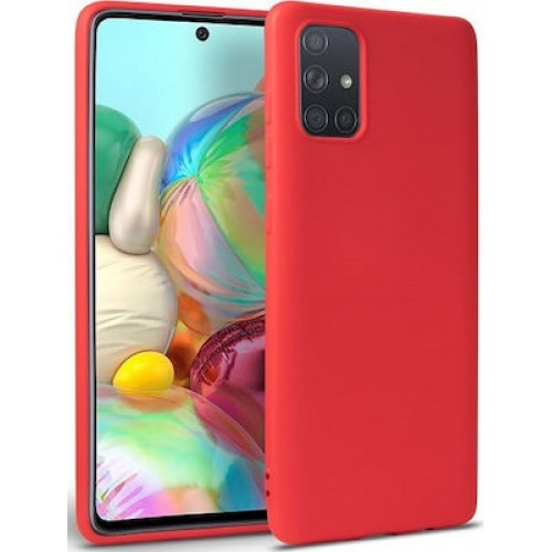 Oem Θήκη Σιλικόνης Matt Για Huawei P Smart 2021 Κόκκινο