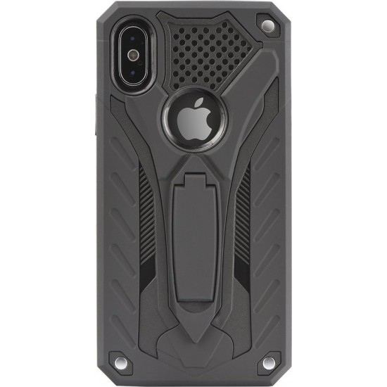 Forcell Defender PHANTOM Case with stand Για Huawei P Smart 2019 / Honor 10 Lite Μαύρο