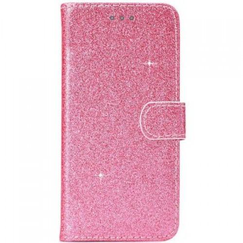 Θήκη Βιβλίο Χρυσόσκονη Για Huawei P30 Lite Ροζ