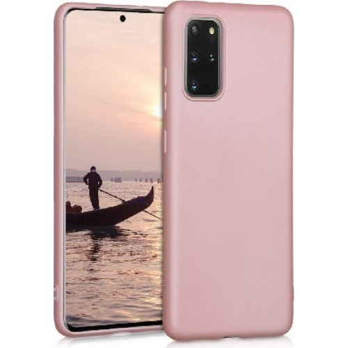 Soft Matt Case Gel TPU Cover 2.0mm Για Samsung Galaxy S21 Plus 5G / S30 Plus Ροζ - Χρυσό Box