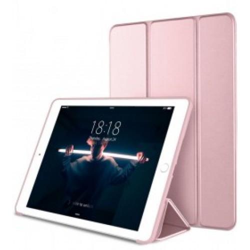 Trifold Θήκη Βιβλίο με Σιλικόνη Flip Cover Για Huawei MediaPad T5 10.1'' Ροζ Χρυσό