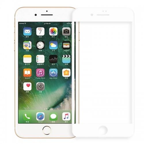 Full Face Tempered glass / Αντιχαρακτικό Γυαλί Πλήρους Οθόνης 3D Για Apple Iphone 7/8 plus Άσπρο