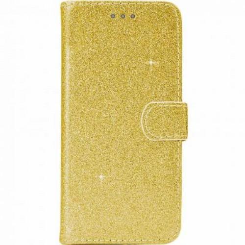 Θήκη Βιβλίο Χρυσόσκονη Για Huawei P30 Lite Χρυσό
