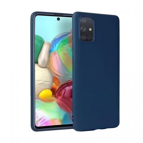 Oem Θήκη Σιλικόνης Matt Για Samsung Galaxy A42 5G Μπλε Σκούρο