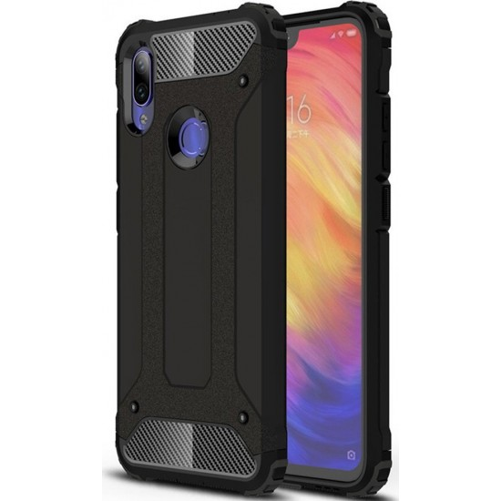 FORCELL ΘΗΚΗ ARMOR BACK COVER ΓΙΑ XIAOMI REDMI NOTE 8 PRO ΜΑΥΡΗ